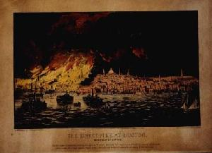 The Great Fire at Boston. - Before Lightening Process