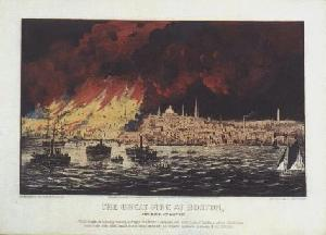 The Great Fire at Boston. - After Lightening and Stabilization
